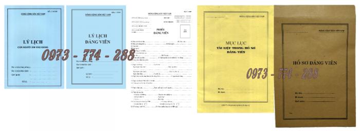 Bán bộ hồ sơ Đảng viên20