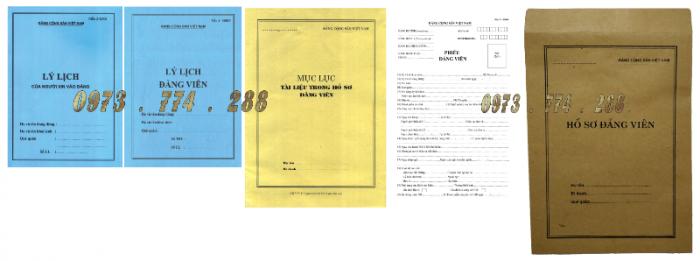 Bán bộ hồ sơ Đảng viên22