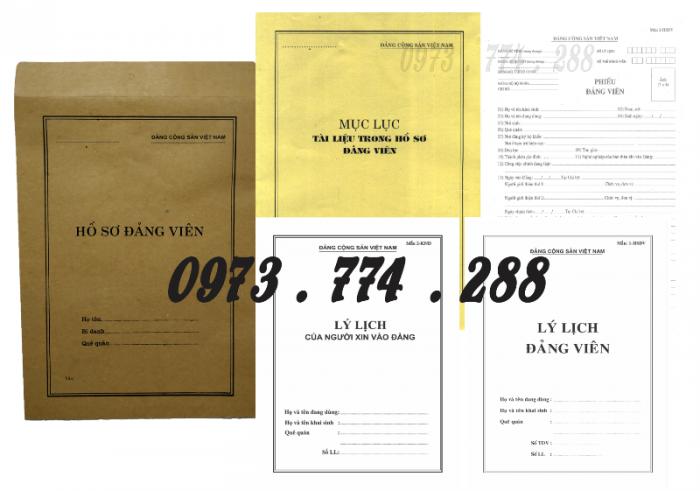 Bộ hồ sơ Đảng viên đầy đủ gía rẻ19