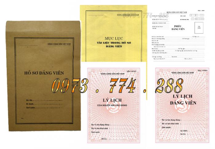 Bộ hồ sơ Đảng viên đầy đủ gía rẻ20