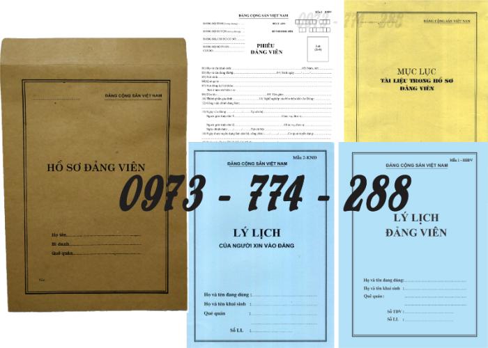 Bộ hồ sơ Đảng viên đầy đủ gía rẻ21