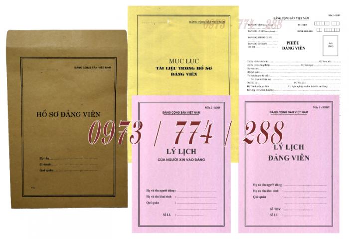 Bộ hồ sơ Đảng viên đầy đủ gía rẻ22