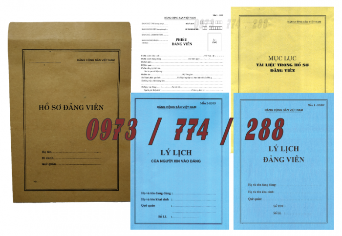 Bộ hồ sơ Đảng viên đầy đủ gía rẻ23