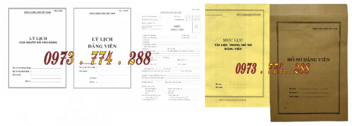 Bộ hồ sơ đảng viên chính thức19