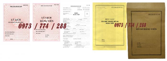 Bộ hồ sơ đảng viên chính thức20