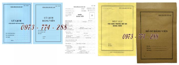 Bộ hồ sơ đảng viên chính thức21