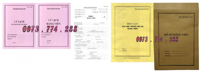 Bộ hồ sơ đảng viên chính thức22