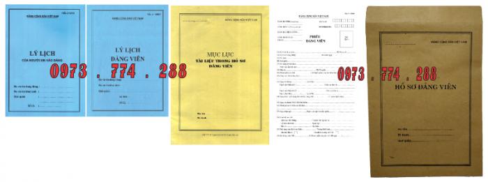 Bộ hồ sơ đảng viên chính thức23