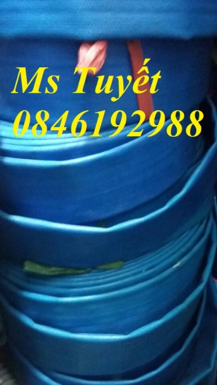 Ống bạt PVC hút nước màu xanh, hút cát màu vàng, tải sỏi màu tím3