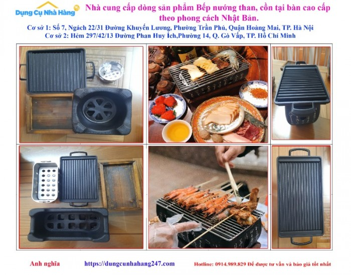 Bán chuyên Bếp nướng than, cồn tại bàn Nhật Bản1
