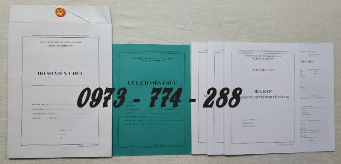 Hồ sơ viên chức mẫu HS01, HS02, HS03, HS04, HS05, HS06, HS09 -VC/BNV1
