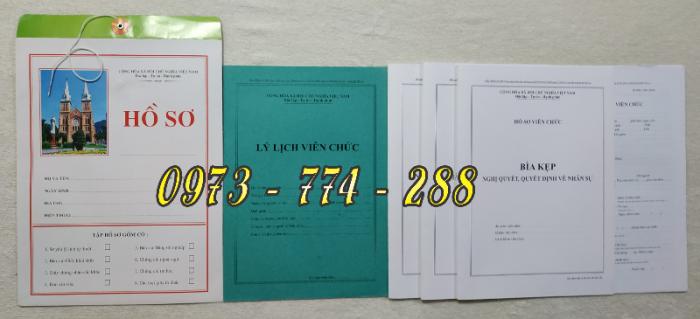 Hồ sơ viên chức mẫu HS01, HS02, HS03, HS04, HS05, HS06, HS09 -VC/BNV2