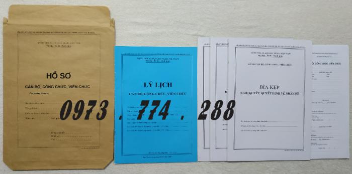 Hồ sơ viên chức mẫu HS01, HS02, HS03, HS04, HS05, HS06, HS09 -VC/BNV3