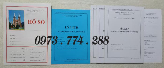 Hồ sơ viên chức mẫu HS01, HS02, HS03, HS04, HS05, HS06, HS09 -VC/BNV4