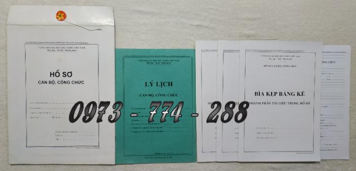 Hồ sơ viên chức mẫu HS01, HS02, HS03, HS04, HS05, HS06, HS09 -VC/BNV7