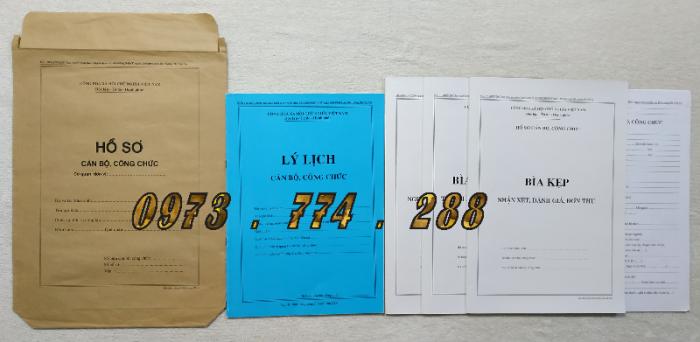 Hồ sơ viên chức mẫu HS01, HS02, HS03, HS04, HS05, HS06, HS09 -VC/BNV9