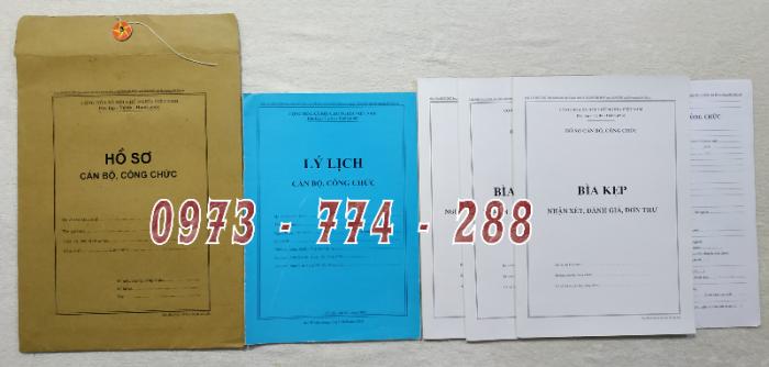 Hồ sơ viên chức mẫu HS01, HS02, HS03, HS04, HS05, HS06, HS09 -VC/BNV10
