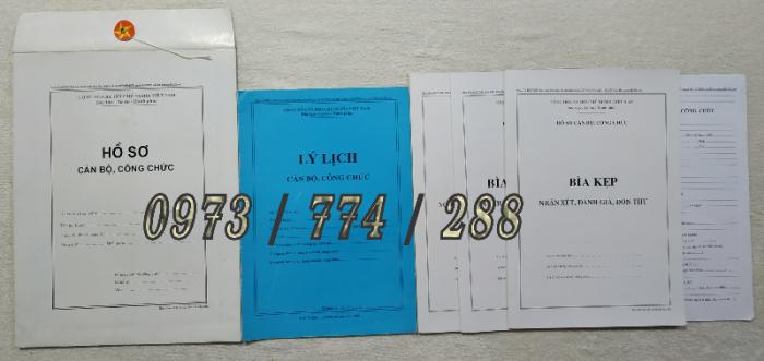 Hồ sơ viên chức mẫu HS01, HS02, HS03, HS04, HS05, HS06, HS09 -VC/BNV11