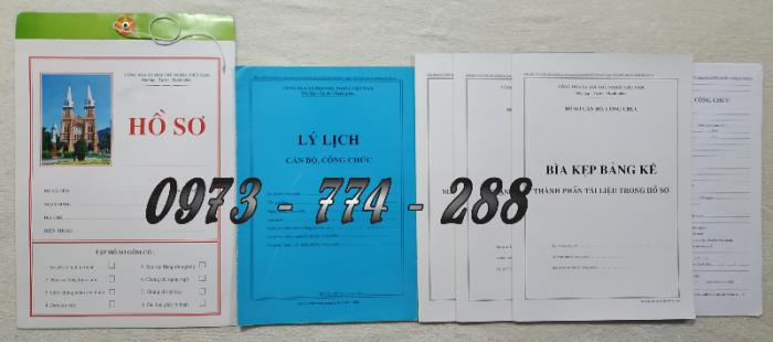 Hồ sơ viên chức mẫu HS01, HS02, HS03, HS04, HS05, HS06, HS09 -VC/BNV12