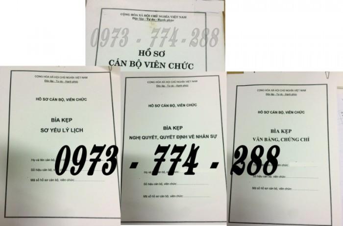 Hồ sơ viên chức mẫu HS01, HS02, HS03, HS04, HS05, HS06, HS09 -VC/BNV13