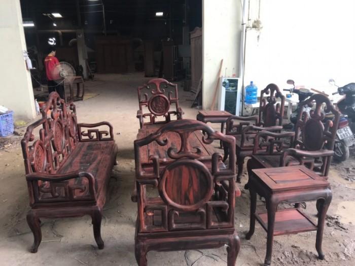 Bộ triện móc gỗ trắc đỏ Lào xịn 8 món siêu hiếm tại quận 74