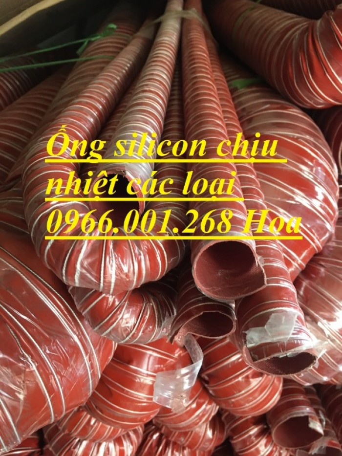 Ống silicon , ống silicon cam chịu nhiệt cao 320oC phi 63 giá rẻ3