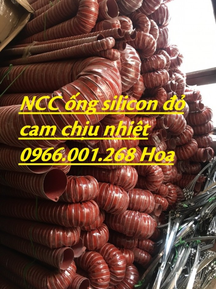 Ống silicon , ống silicon cam chịu nhiệt cao 320oC phi 63 giá rẻ5