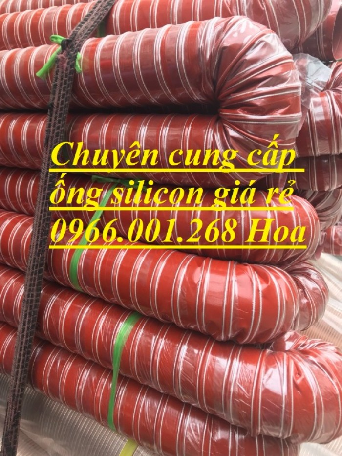 Ống silicon , ống silicon cam chịu nhiệt cao 320oC phi 63 giá rẻ7