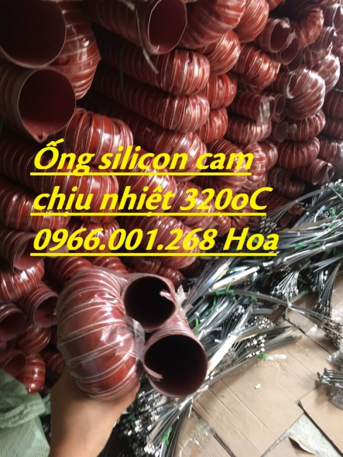 Ống silicon , ống silicon cam chịu nhiệt cao 320oC phi 63 giá rẻ8