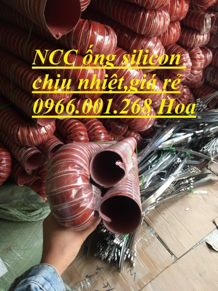 Ống silicon , ống silicon cam chịu nhiệt cao 320oC phi 63 giá rẻ11