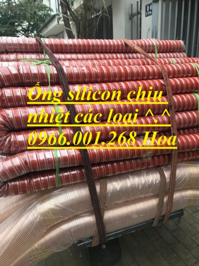 Ống silicon , ống silicon cam chịu nhiệt cao 320oC phi 63 giá rẻ13