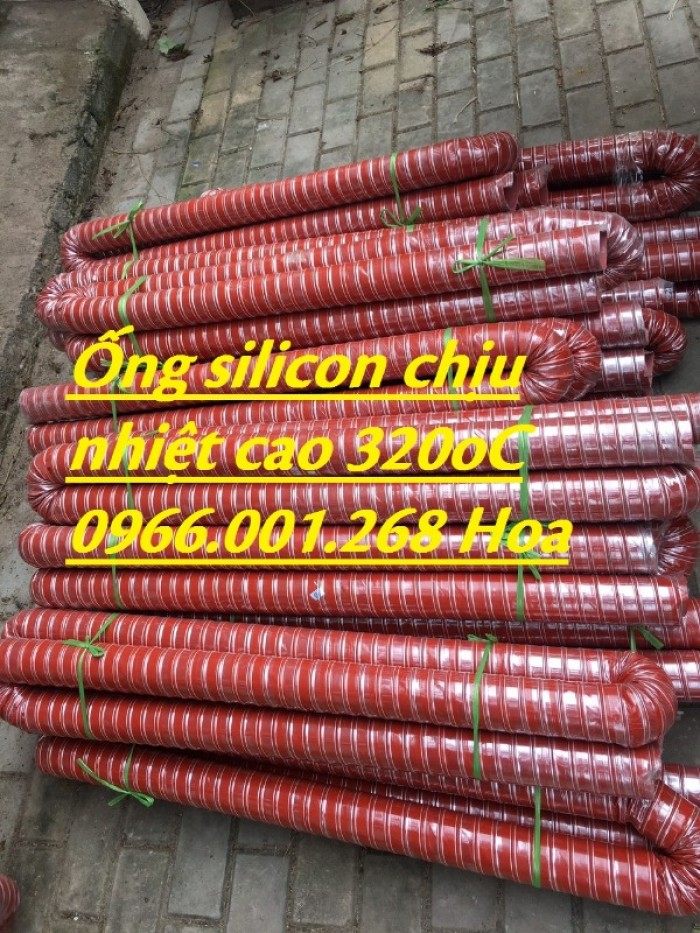 Ống silicon , ống silicon cam chịu nhiệt cao 320oC phi 63 giá rẻ12