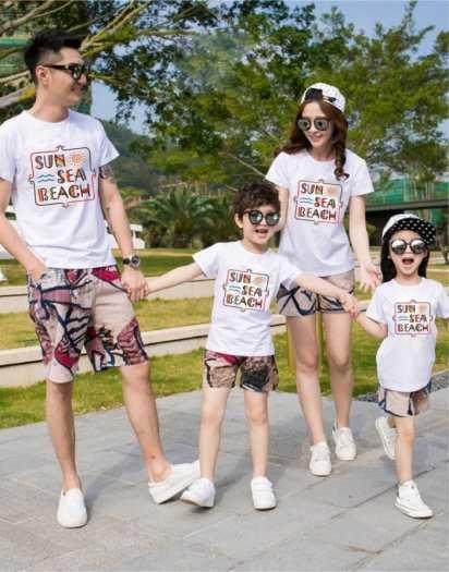 Đồng phục đi biển gia đình và nhóm theo yêu cầu2