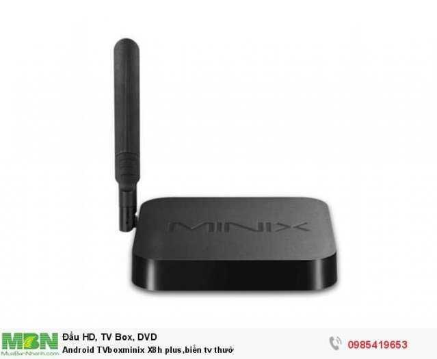 Android TVboxminix X8h plus,biến tv thườ1