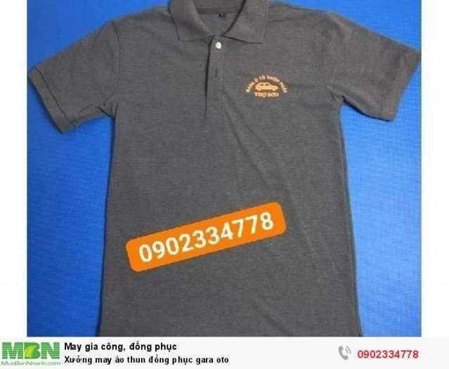 Xưởng may áo thun đồng phục gara oto