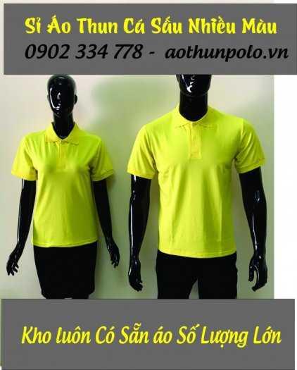 Chuyên sỉ áo thun cá sấu màu vàng chanh giá rẽ - hàng có sẵn số lượng lớn0