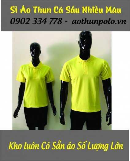 Chuyên sỉ áo thun cá sấu màu vàng chanh giá rẽ - hàng có sẵn số lượng lớn1