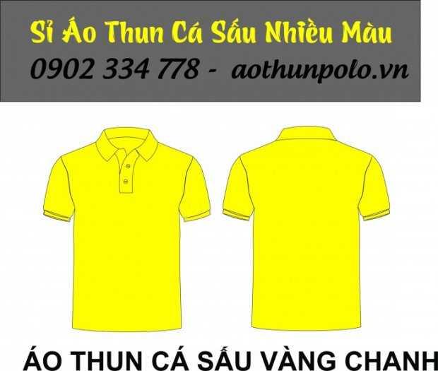 Chuyên sỉ áo thun cá sấu màu vàng chanh giá rẽ - hàng có sẵn số lượng lớn2