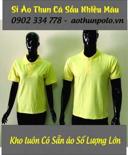 Chuyên sỉ áo thun cá sấu màu vàng chanh giá rẽ - hàng có sẵn số lượng lớn3