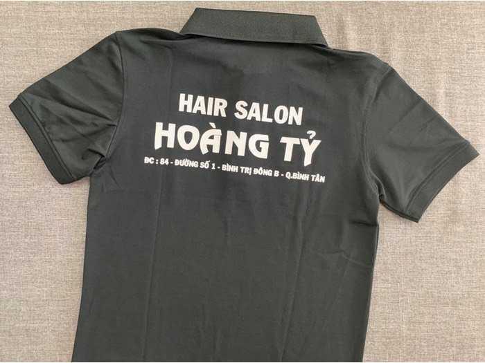 Áo thun in logo salon tóc1