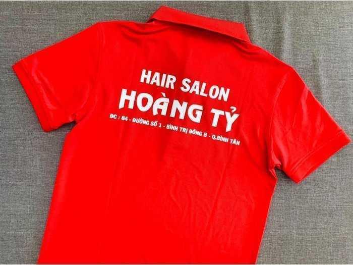Áo thun in logo salon tóc3