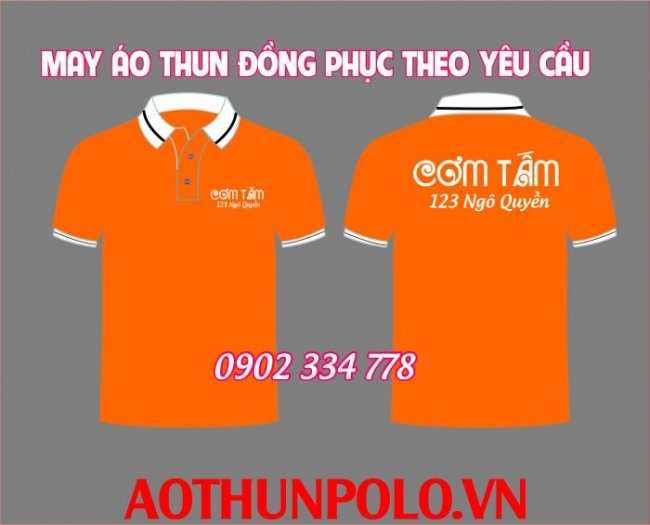 áo thun đồng phục quán cơm tấm cam