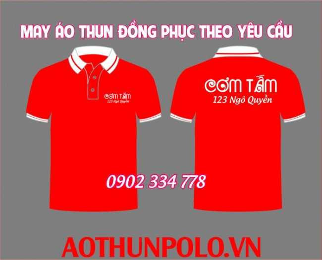 áo thun đồng phục quán cơm tấm đỏ