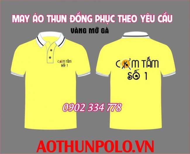 áo thun đồng phục quán cơm tấm vàng3