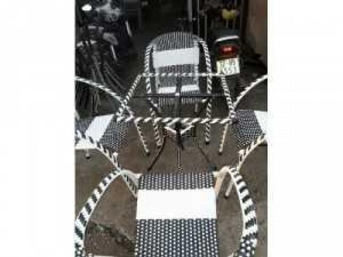 Bàn ghế nhựa giả mây chuyên sản xuất tại xưởng khách có nhu cầu xin lh mình160