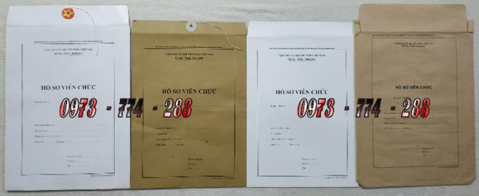 Bán vỏ, túi, bìa, bì đựng hồ sơ viên chức theo thông tư 07/2019/TT-BNV0
