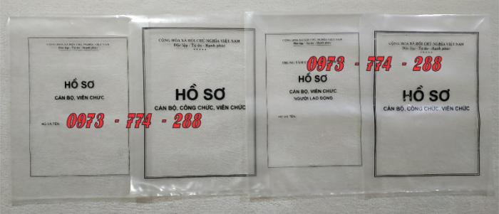 Bán vỏ, túi, bìa, bì đựng hồ sơ viên chức theo thông tư 07/2019/TT-BNV1