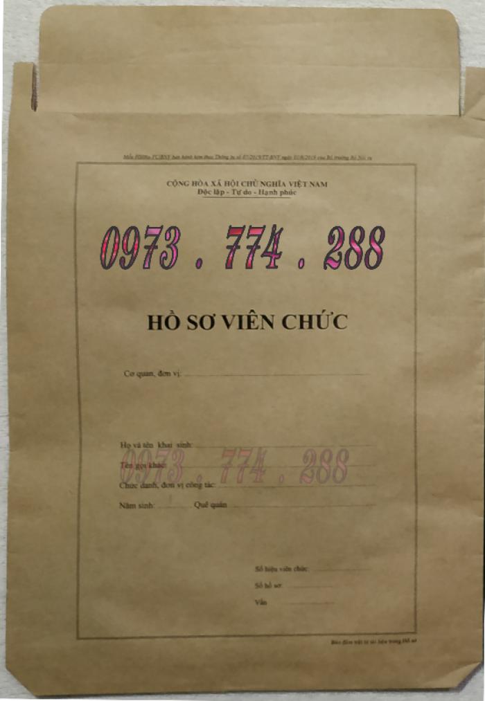 Bán vỏ, túi, bìa, bì đựng hồ sơ viên chức theo thông tư 07/2019/TT-BNV2