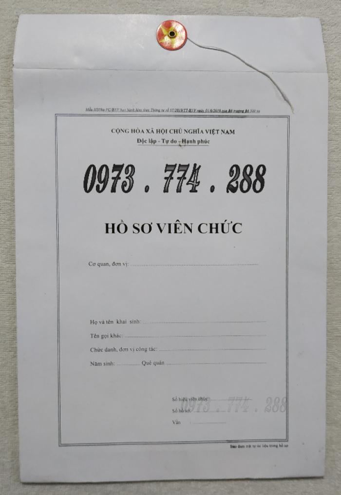Bán vỏ, túi, bìa, bì đựng hồ sơ viên chức theo thông tư 07/2019/TT-BNV3