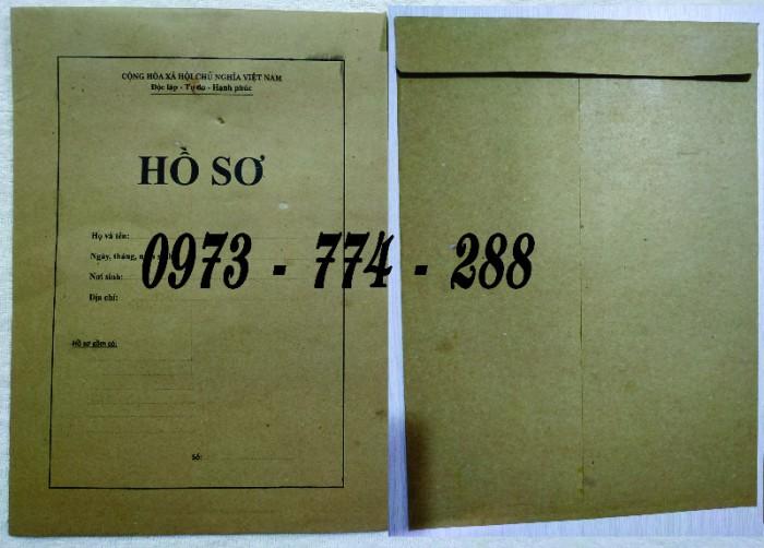 Bán vỏ, túi, bìa, bì đựng hồ sơ viên chức theo thông tư 07/2019/TT-BNV14